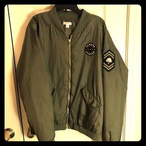 NWOT Army Green Bomber jacket JR's XL